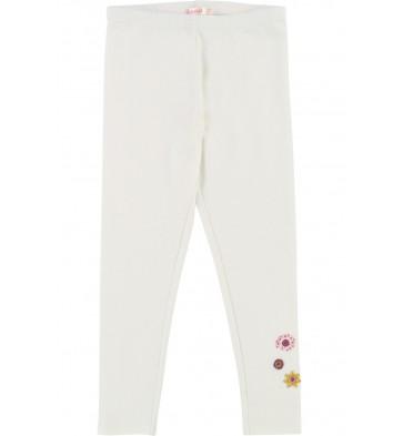 Billieblush legging met bloemen van kraaltjes in de kleur off white