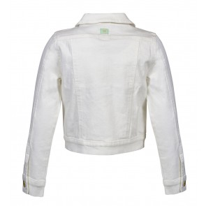 Indian blue jeans denim jacket in de kleur off white
