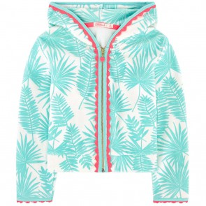 Billieblush badstof vest met palm print in de kleur lichtblauw