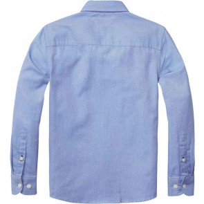 Tommy Hilfiger bree dobby shirt blouse in de kleur lichtblauw