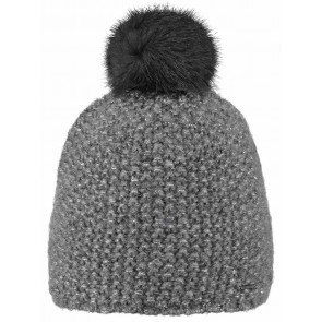 Barts kids muts Ymaja beanie in de kleur heather grey grijs