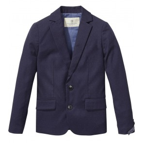 Scotch shrunk blazer met stipjes in de kleur donkerblauw