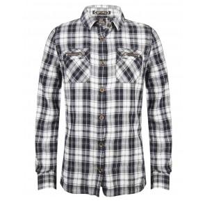 Indian blue jeans geblokte blouse in de kleur zwart/wit