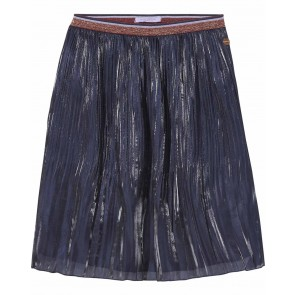 Scotch R'belle plisée glans rok in de kleur donkerblauw