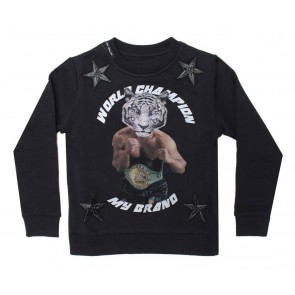 My Brand sweater trui champion tiger in de kleur black zwart