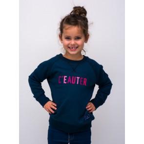 Cheaque uniseks sweater trui C'eauter in de kleur blauw