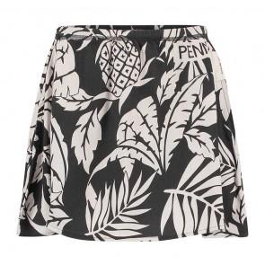 Penn en Ink kids rok met flower print en steekzakken in de kleur grijs