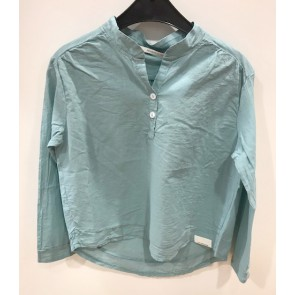 Penn en Ink kids blouse in de kleur jade groen