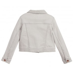 Carrément Beau jeans jasje met borduursels in de kleur grijs