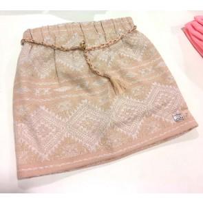 Carrément Beau rokje met glitter aztec print in de kleur roze