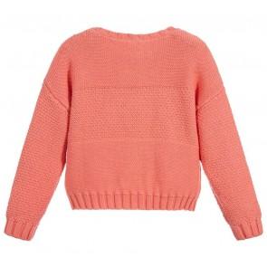 Carrément Beau gebreide kabel trui in de kleur oranje