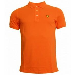 Lyle and Scott polo shirt in de kleur fel oranje