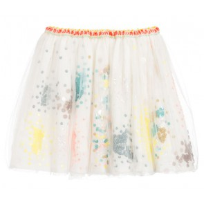 Billieblush tule rok met gekleurde pailletjes in de kleur off white