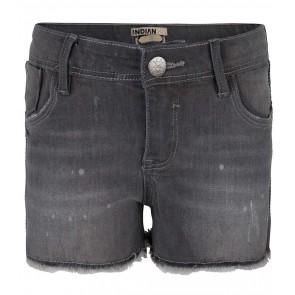 Indian blue jeans grey nova shorts broek in de kleur grey denim grijs
