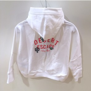Tommy Hilfiger sweat hoodie vest Desert escape in de kleur wit