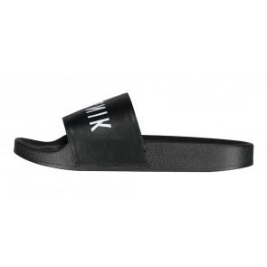 Nik en Nik sandals slippers met logo print in de kleur black/zwart