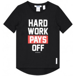 NIK en NIK t-shirt 'Hard work pays off' in de kleur zwart
