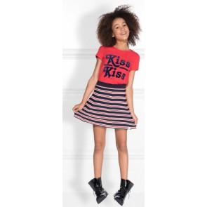 NIK en NIK t-shirt 'Kiss Kiss' in de kleur rood