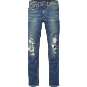 Tommy Hilfiger ripped jeans broek in de kleur jeansblauw